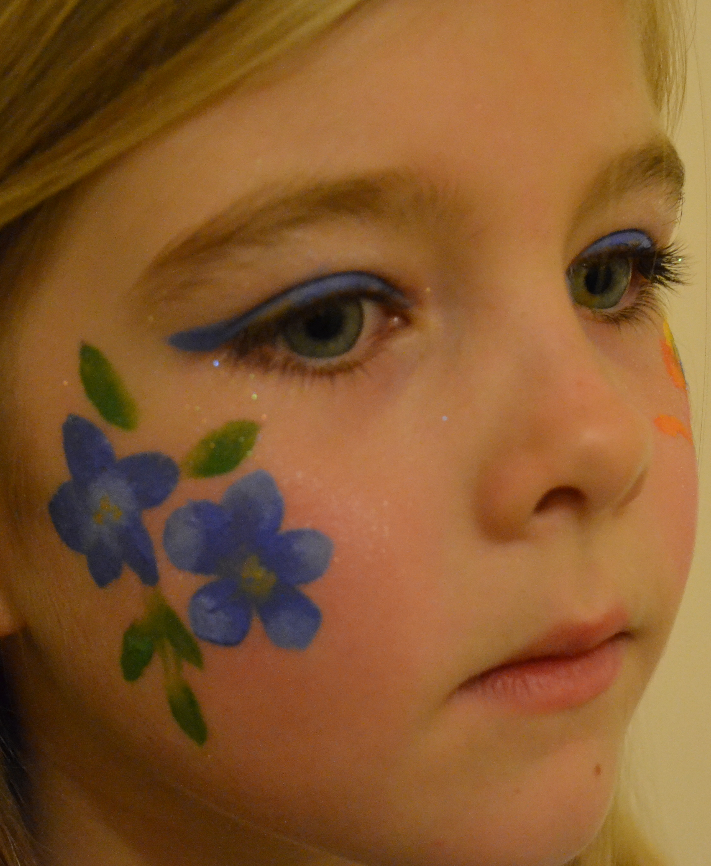 face painting easy flower wwwimgkidcom the image kid