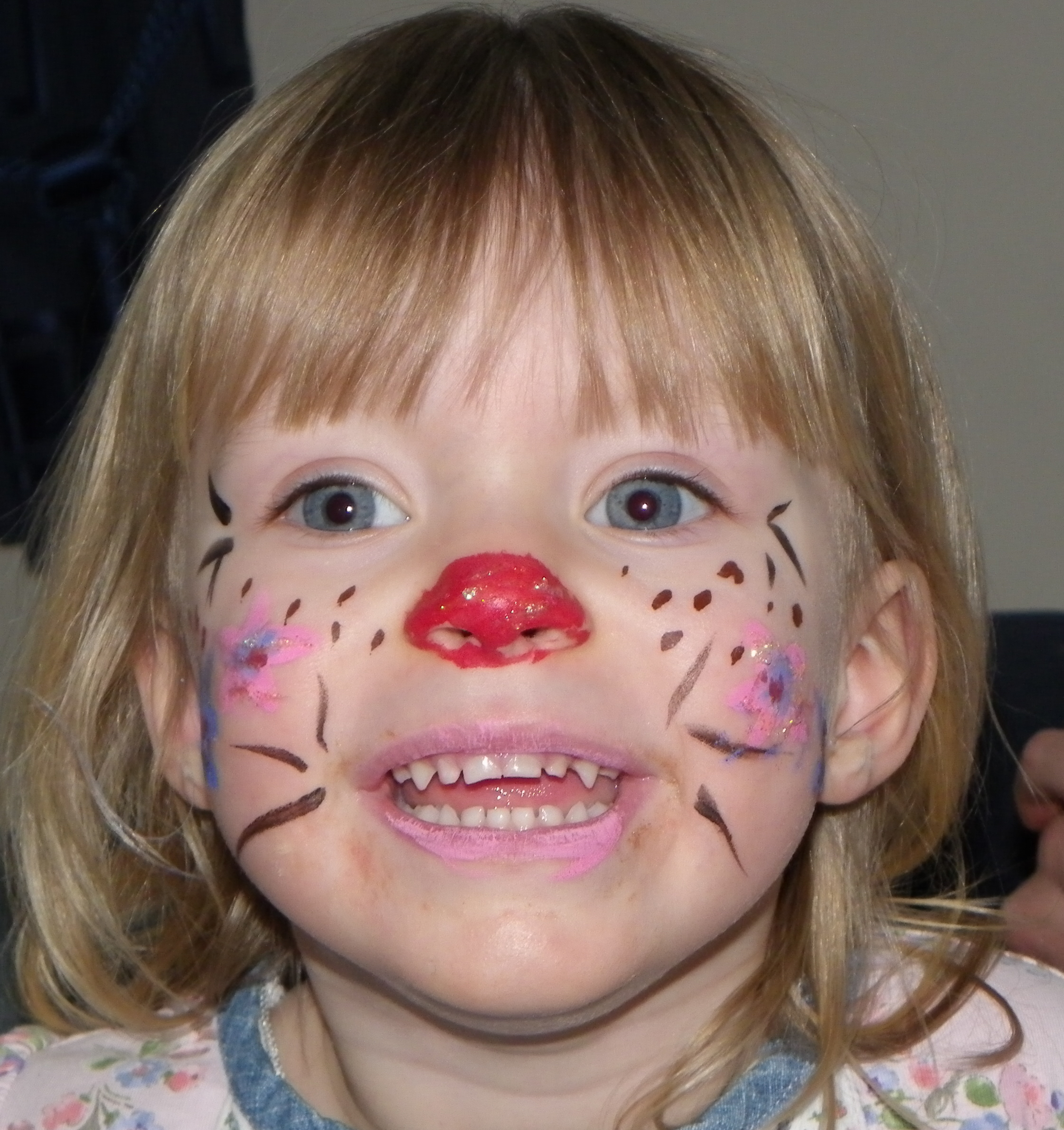 Simple face painting for little ones